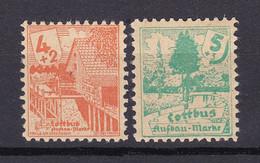 Cottbus - Deutsche Lokalausgaben - 1946 - Michel Nr. 3/4 - Ungebr. - Occupation 1938-45