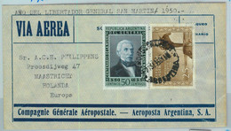 94116 - ARGENTINA - POSTAL HISTORY - Airmail  COVER To HOLLAND  Aeropostale  1950 - Briefe U. Dokumente