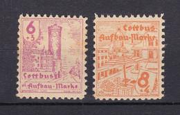 Cottbus - Deutsche Lokalausgaben - 1946 - Michel Nr. 5/6 - Ungebr. - Occupation 1938-45