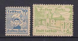 Cottbus - Deutsche Lokalausgaben - 1946 - Michel Nr. 7/8 - Ungebr. - Occupation 1938-45