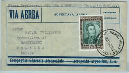 94117 - ARGENTINA - POSTAL HISTORY - FDC  COVER To HOLLAND  Aeropostale  1950 - Briefe U. Dokumente