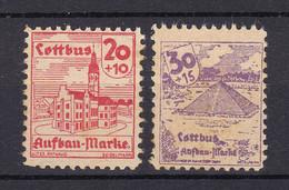 Cottbus - Deutsche Lokalausgaben - 1946 - Michel Nr. - 10 + 12 - Ungebr. - Occupation 1938-45