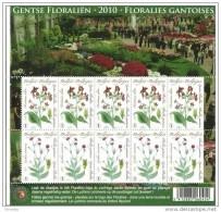 Gentse Floraliën Met Bloemzaadje - 4000/01**- BF Floralies Gantoises MNH - Compleet Vel Lychnis Coronaria XX - Hojas