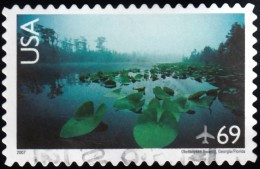 UNITED STATES - Scott #C142 Okefenokee Swamp, Florida (*) / Used Stamp - 3a. 1961-… Gebraucht