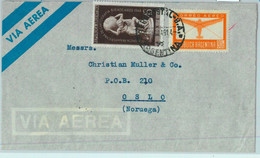 94120 - ARGENTINA - POSTAL HISTORY - AIRMAIL Cover To NORWAY  1949 - Briefe U. Dokumente