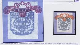 Ireland Revenues General Duty 10s Grey Perf 14 Wmk Orbs, Die Z2, Used On Piece Tied BELFAST 5-7-93 Ribbon In Orange - Ohne Zuordnung