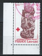 DD-/-250--. N° 2116a, OBL. CROIX ROUGE , Du Carnet 1980, Dent  12 ½ X 13,  EMIS UNIQUEMENT En CARNET, VERSO SUR DEMANDE - Oblitérés