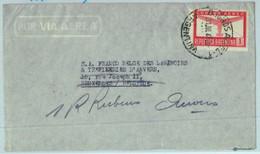 94132 - ARGENTINA - POSTAL HISTORY - Single Stamp Airmail COVER To BELGIUM  1947 - Briefe U. Dokumente