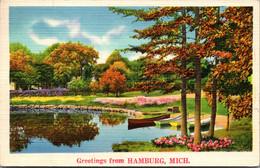 Michigan Greetings From Hamburg 1938 - Other