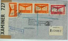 94136 - ARGENTINA - POSTAL HISTORY - CENSORED Registered COVER To  ENGLAND  1941 - Briefe U. Dokumente
