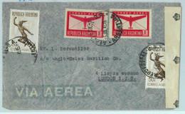 94137 - ARGENTINA - POSTAL HISTORY - CENSORED Registered COVER To  ENGLAND  1945 - Briefe U. Dokumente