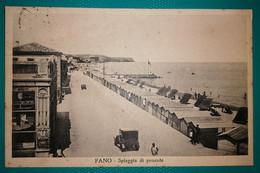 Cartolina Fano - Spiaggia Di Ponente. Viaggiata - Fano