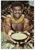 (KK 11) Postcard Posted From Fiji To Australia (1973) Fijian Yagona Ceremony - Fiji
