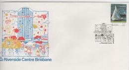 Australia PM 1338 1986 Riverside Centre Brisbane, FDI  Souvenir Cover - Marcofilie