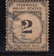 2c Postage Due 1924 Used,  Wmk Multi Script, Federated Malay States,  Malaya / Malaysia - Federated Malay States