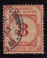 8c Postage Due 1924 - 1926 Used,  Wmk Multi Script,, Federated Malay States,  Malaya / Malaysia - Federated Malay States