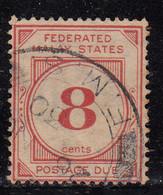 8c Postage Due 1924 - 1926 Used,  Wmk Multi Script,  Federated Malay States,  Malaya / Malaysia - Federated Malay States