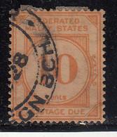 10c Postage Due 1924 - 1926 Used,  Wmk Multi Script, Federated Malay States,  Malaya / Malaysia - Federated Malay States