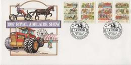 Australia PM 1405 1987 Royal Adelaide Show,FDI  Souvenir Cover - Marcofilie