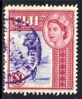 Fiji 1954 - 59 QE2 £1 Carmine & Blue Police Bugler Used SG 295 ( G1354 ) - Fidschi-Inseln (...-1970)