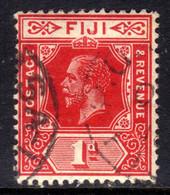 Fiji 1912 - 23 KGV 1d Carmine Used SG 127 ( D520 ) - Fidschi-Inseln (...-1970)