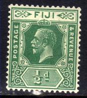 Fiji 1922 - 27 KGV 1/2d Green MM SG 229 ( D75 ) - Fidschi-Inseln (...-1970)
