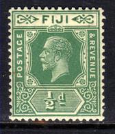 Fiji 1922 - 27 KGV 1/2d Green Umm SG 229 ( D47 ) - Fidschi-Inseln (...-1970)