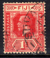 Fiji 1922 - 27 KGV 1d Carmine Red Used SG 230 ( D524 ) - Fidschi-Inseln (...-1970)