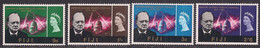 Fiji 1966 QE2 Churchill Set Umm SG 345 - 348 ( A955 ) - Fidschi-Inseln (...-1970)