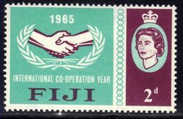 Fiji 1965 QE2 2d Intl Co Operation Year MM SG 343 ( L1186 ) - Fidschi-Inseln (...-1970)