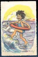 Cpa Illustrateur Germaine Bouret ---  Bobby , Tu M' Aideras à Faire La Planche   AVR20-18 - Bouret, Germaine