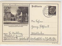 Hindenburg Ganzsache Motiv Gelnhausen Aus OSTSEEBAD GRAAL 17.5.40 - Briefe U. Dokumente