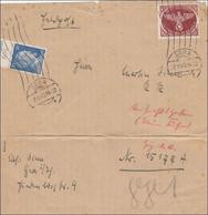 Feldpost II. Weltkrieg:  Briefausschnitt Von Gera 1943 FPNr. 15177A - Ocupación 1938 – 45