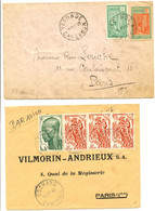 CAMEROUN 2X ENV 1928 YAOUNDE ET 1960 DSCHANG LETTRE AVION - Brieven En Documenten