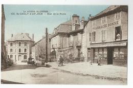 SAINT CHELY D'APCHER , RUE DE LA POSTE PHARMARCIE Voiture - Saint Chely D'Apcher