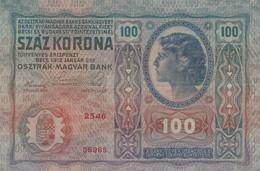 BANCONOTA AUSTRIA 100 1912 SOVRASTAMPA DEUTSCH REICH (XR1285 - Austria