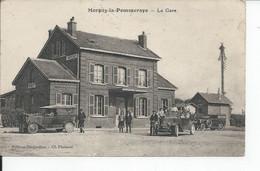 MORGNY LA POMMERAYE   La Gare  Tres Belle Carte  Tres Rare - Sonstige Gemeinden