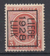 BELGIË - PREO - 1928 - Nr 170 B - LIEGE 1928 LUIK - (*) - Sobreimpresos 1922-31 (Houyoux)