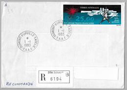 """36 - TAAF PA72 """" Œuvre De Mathieu"""" De Sur Recommandé 1.1.1983 TERRE ADELIE -1er Jour FDC - Arrivé 23.3.1983.. - Lettres & Documents"""