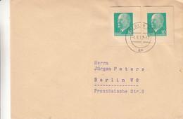 Allemagne - République Démocratique - Lettre De 1962 - Oblit Berlin - Avec Timbres De 2 Entiers Découpés - - Briefe U. Dokumente