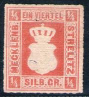 Mecklenburg Strelitz Nr. 1 A Ungebraucht Ohne Gummi - Mecklenburg-Strelitz