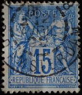 -Sage N°90 Type II  Ob  ( CAD ) PARIS R D'AMSTERDAM 1899. ( Bur 18 ) - 1876-1898 Sage (Type II)