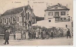 CANNES   ( 06  )  ÉGLISE ANGLICANE  AVEC  ANIMATION  -  C P A  ( 21 / 3 / 98  ) - Cannes