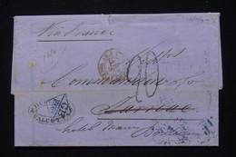 INDE ANGLAISE - Lettre De Calcutta Pour La France En 1870 , Voir Cachets Au Verso - L 90879 - 1858-79 Kronenkolonie