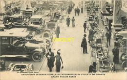 Paris, Exposition Internationale Automobile, Cycle Et Sports Au Grand Palais, Beau Plan Pas Courant, Affranchie 1913 - Mostre
