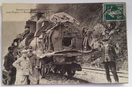 Carte Postale Déraillement Sur La Ligne De Belfort Entre Ougney Et Baume-les-Dames, Le 9 Octobre 1911 - Baume Les Dames