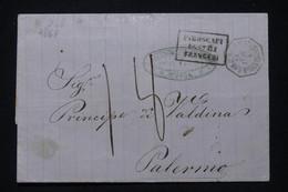 RUSSIE - Lettre De Odessa Pour L 'Italie En 1867 Avec Cachet Le Ligne Maritime De Constantinople - L 90882 - Briefe U. Dokumente