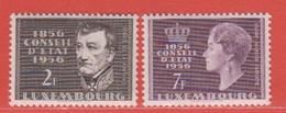 1956 Luxemburg ** (sans Charn., MNH, Postfrisch)  Yv  518/9Mi  559/60 - Nuevos