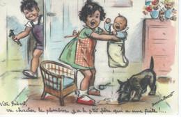"""CPA - GERMAINE BOURET - """" Vite Bébert Va Chercher Le Plombier ... """" 1946 - TBE - - Bouret, Germaine"""
