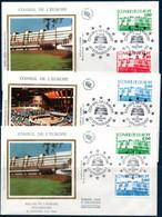 FRSe  1986/87  CONSEIL De L'EUROPE  FDC Des  N° YT 93-95 - Covers & Documents